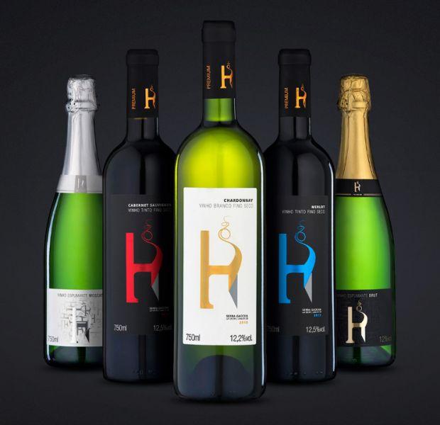 Rótulos Linha H Premium // Vinhos Hortência