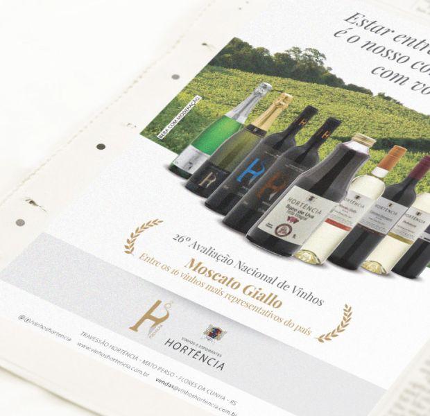 Anúncio 26ª Avaliação Nacional de Vinhos// Vinhos Hortência